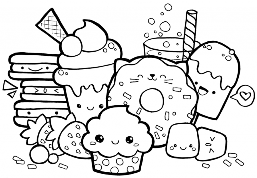 coloring pages ideas cute food coloring pages kawaii