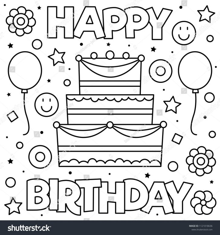 coloring pages ideas happy birthday coloring pages happy