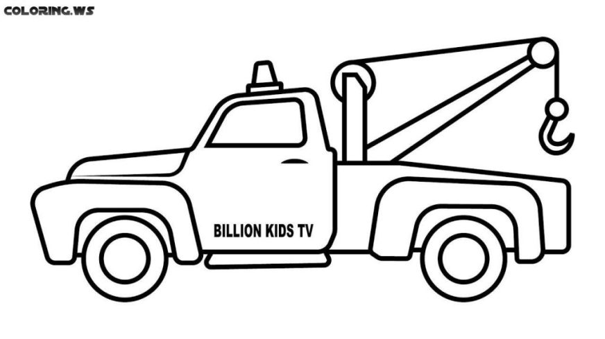 coloring pages ideas printable tow truck coloring pages