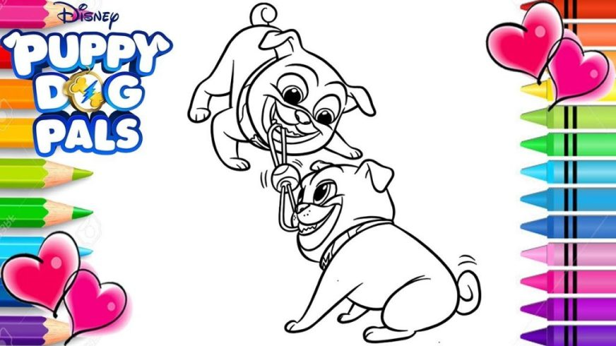 coloring pages ideas puppy dog pals coloring pages bingo