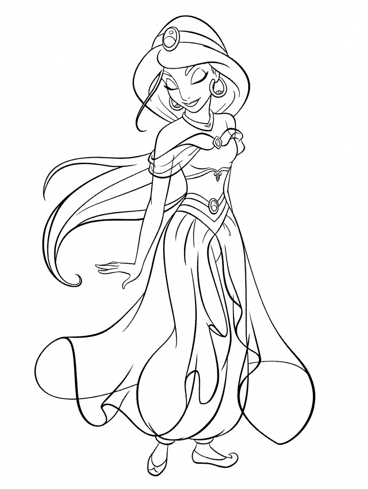 coloring pages ideas staggering princess jasmine coloring