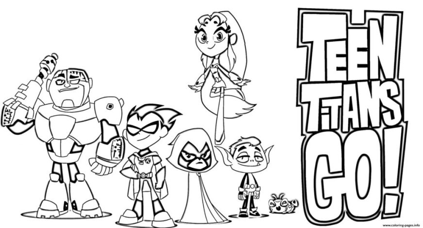coloring pages ideas teen titans go coloring pages