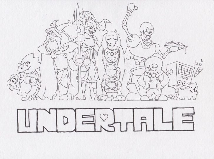 coloring pages ideas undertale coloring pages undertale