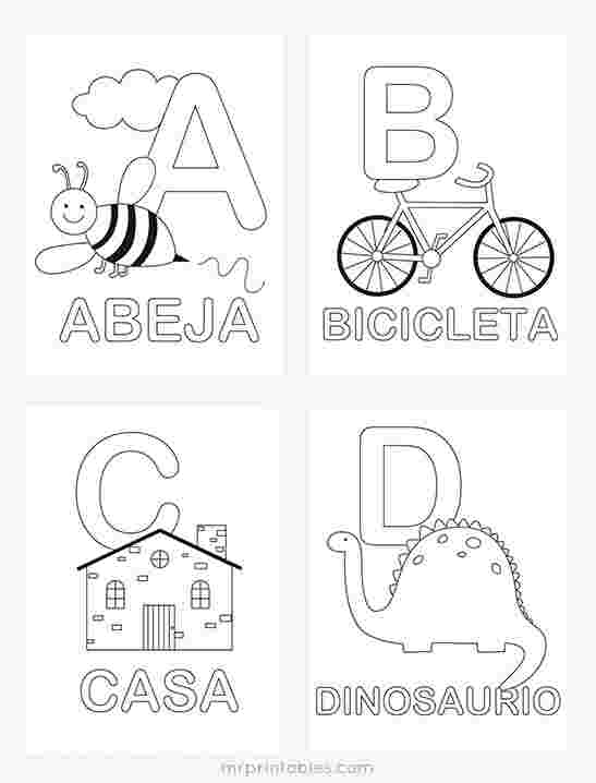 coloring pages in spanish with words worksheets in spanish