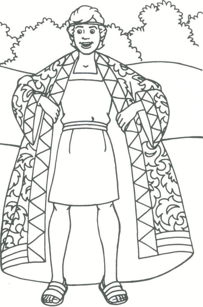coloring pages joseph and the coat of many colors google