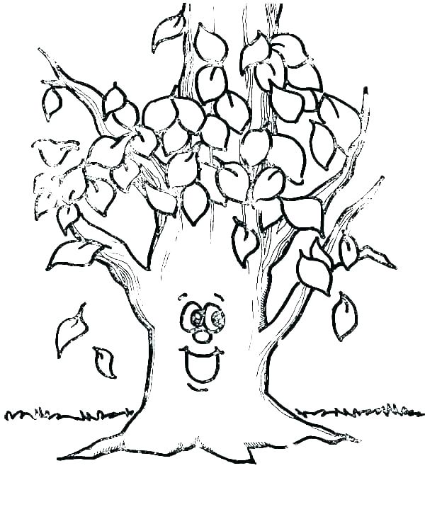 coloring pages leaves colouring autumn fall page tesopro