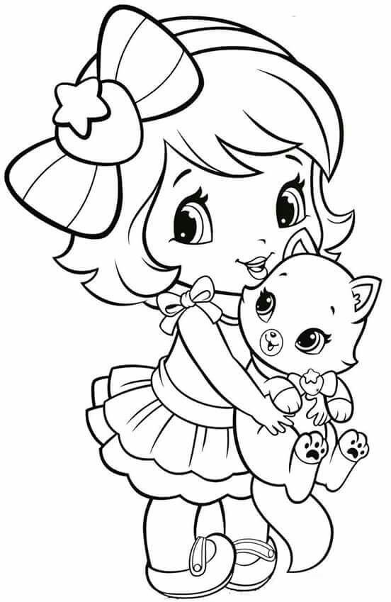 coloring pages little girl cute coloring pages coloring