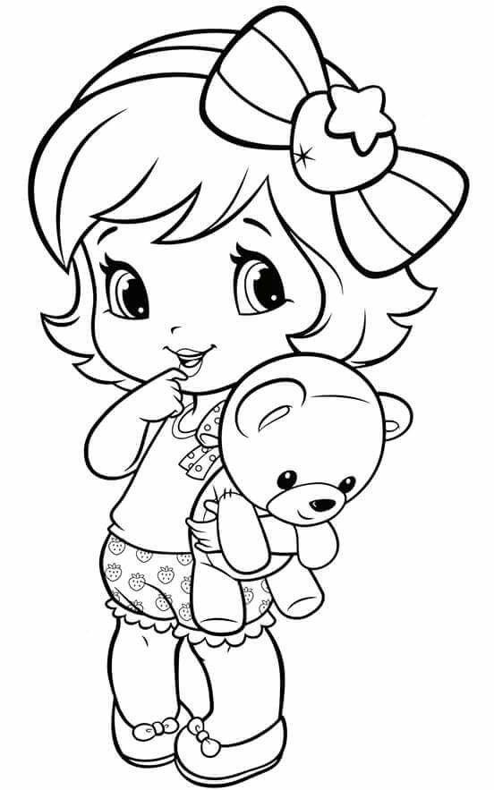 coloring pages little girl desenhos infantis para