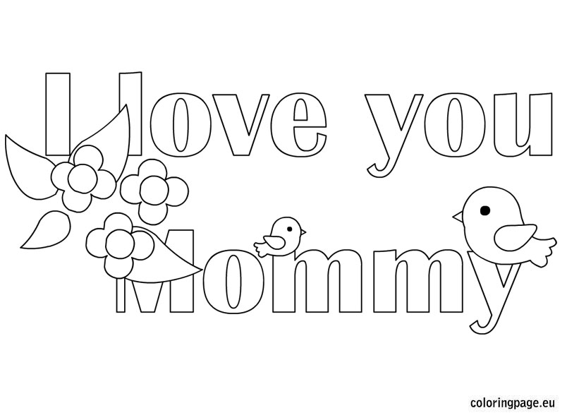 coloring pages love mom