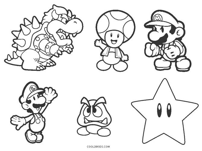 Mario Bros Coloring Pages Ideas - Whitesbelfast.com