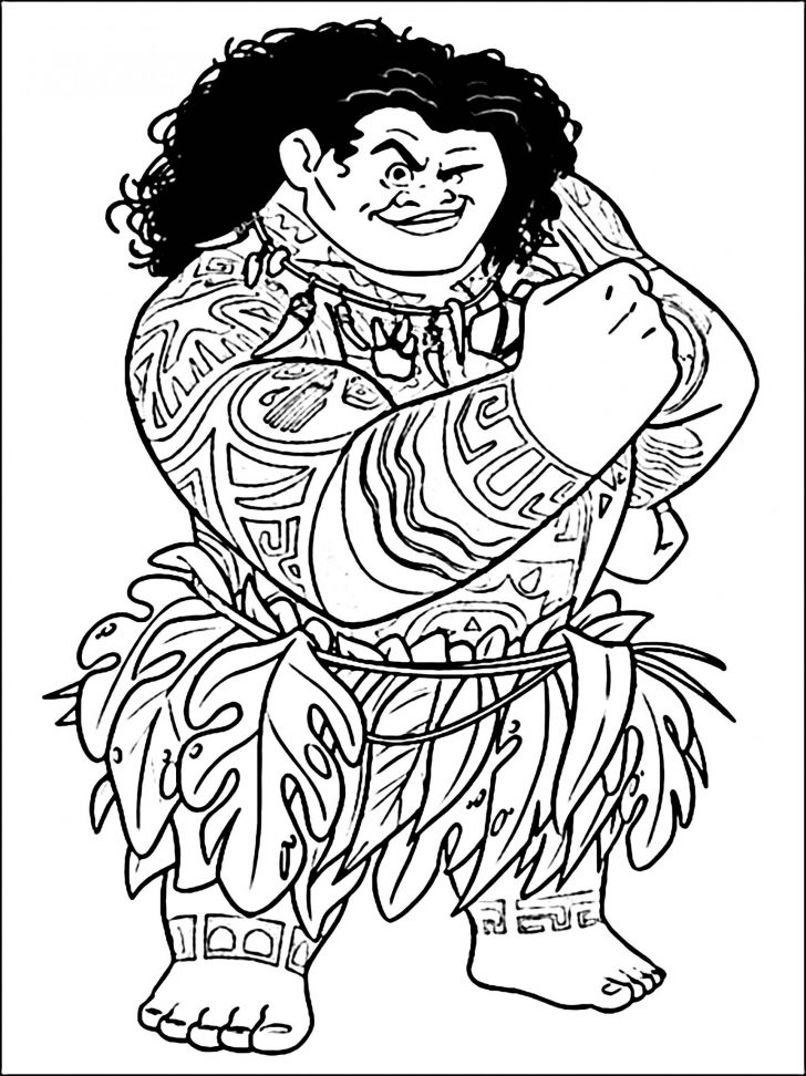coloring pages moana pictures to print and colour dog