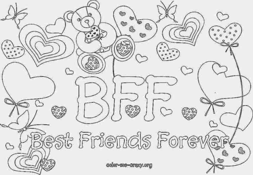 coloring pages of best friends forever best friends coloring