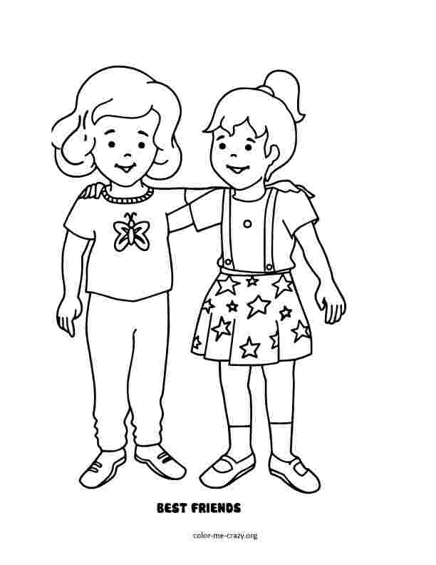 coloring pages of best friends forever bff coloring pages to