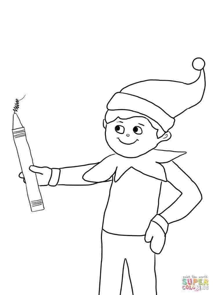 coloring pages of elf on the shelf christmas elf on shelf