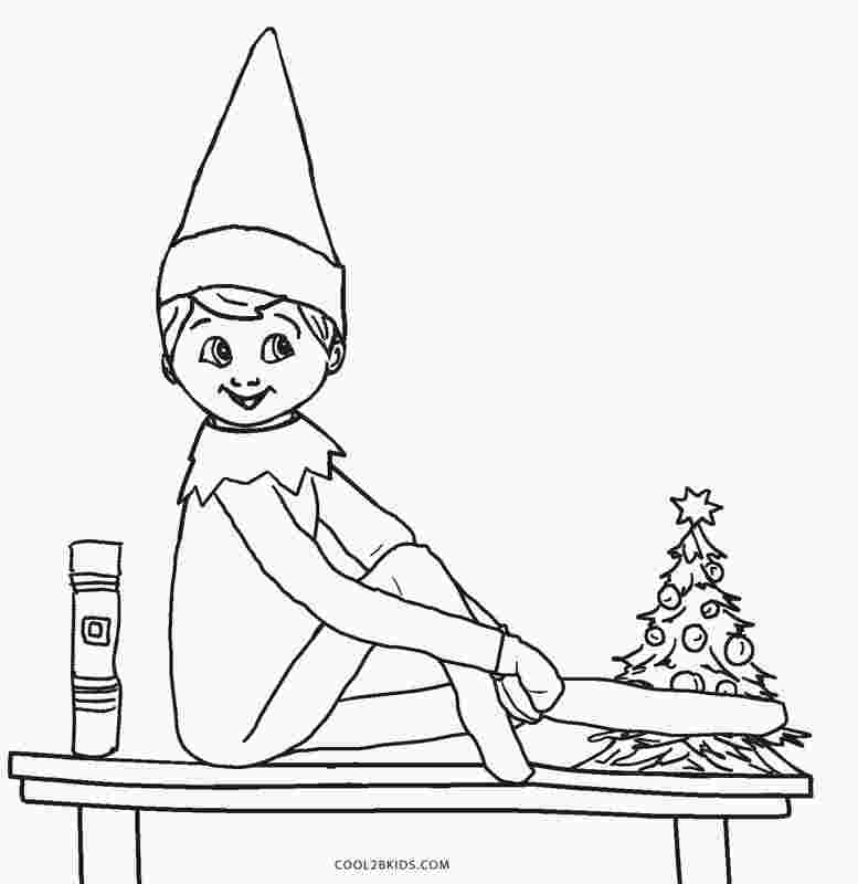 coloring pages of elf on the shelf free printable elf