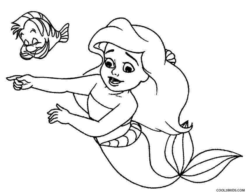 coloring pages of mermaids litle mermaid princess coloring