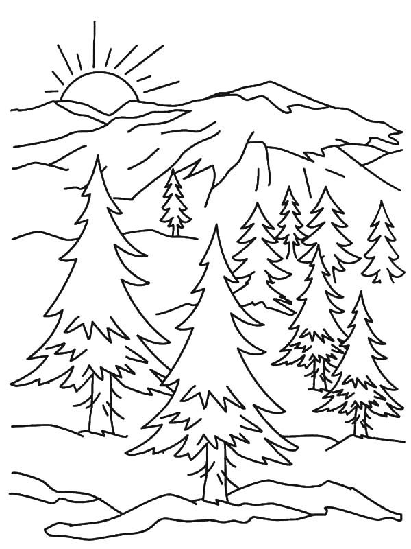coloring pages of mountains kids coloring pages coloring