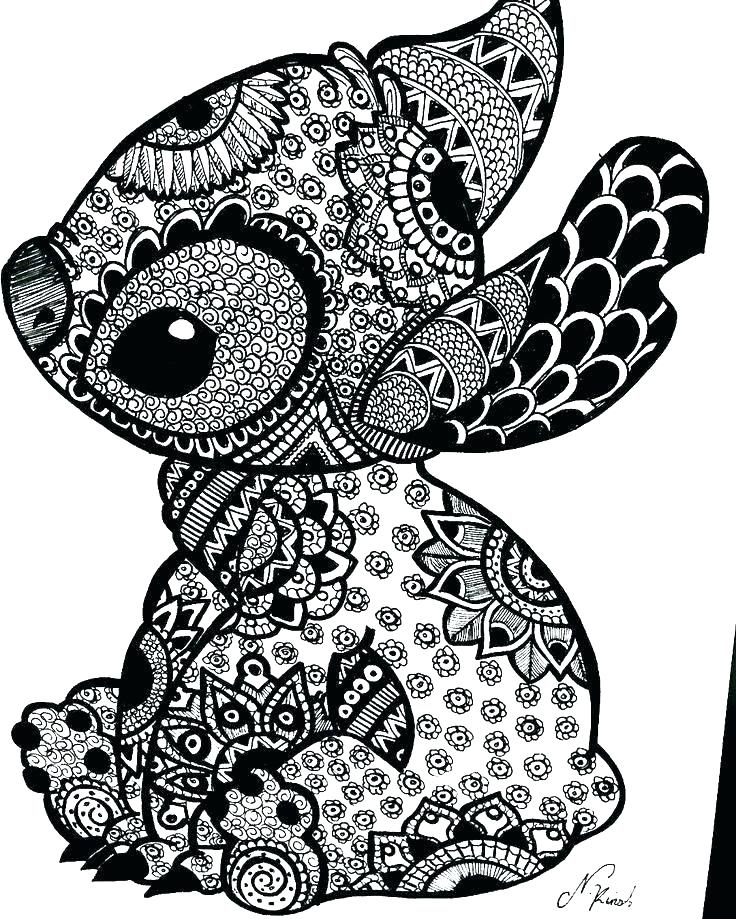 coloring pages of stitch