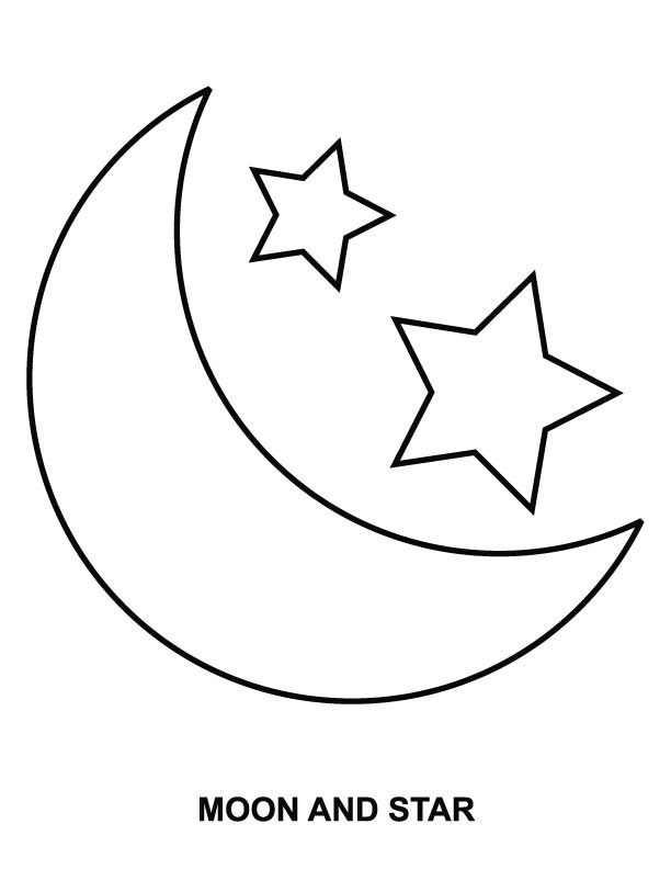 Moon Coloring Pages Pictures - Whitesbelfast