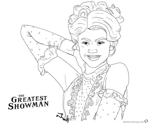 coloring pages of the greatest showman