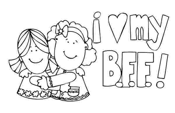 coloring pages of two best friends two best friends coloring