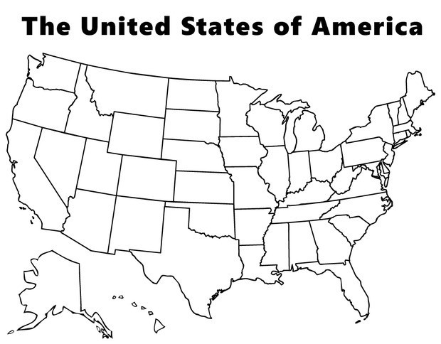 coloring pages of usa