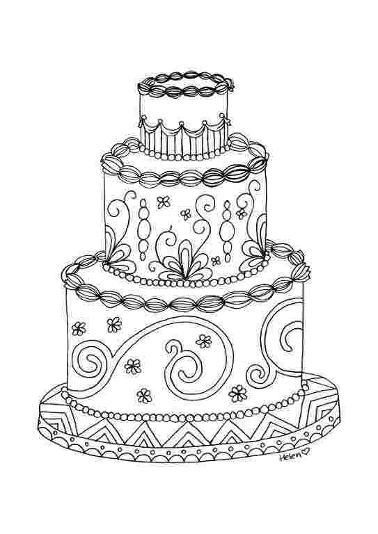 coloring pages of wedding cakes cake coloring page twisty