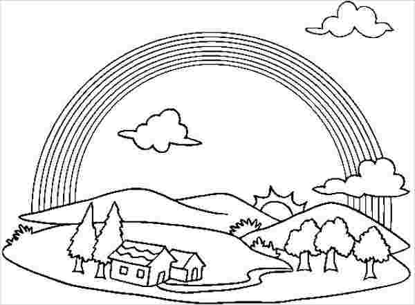 coloring pages rainbow free printable rainbow coloring pages