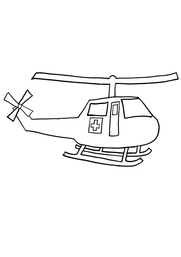 coloring pages simple helicopter coloring page