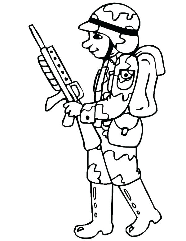 coloring pages soldier page free military sheets army