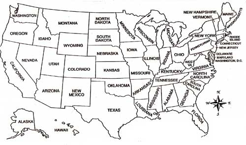 coloring pages usa map