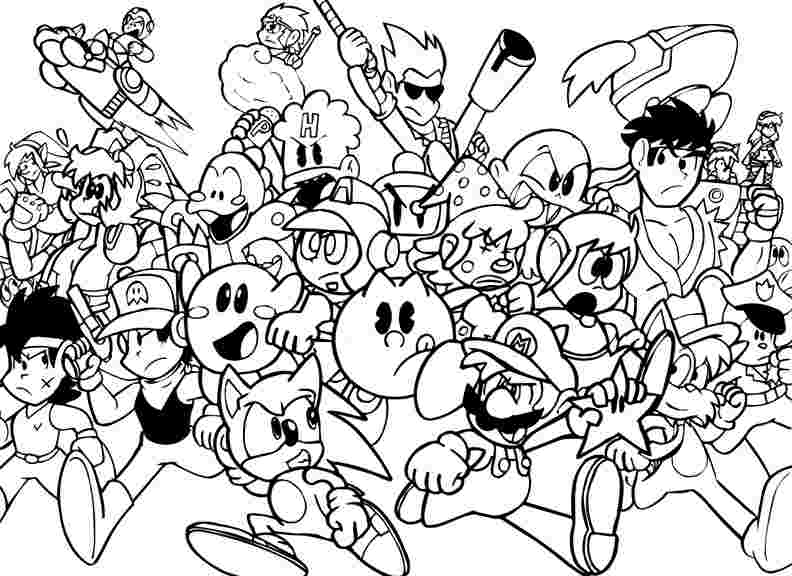 Video Game Coloring Pages Gallery - Whitesbelfast