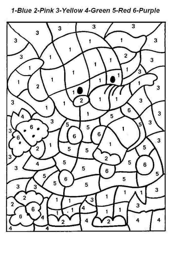 coloring pages with color number free printable color