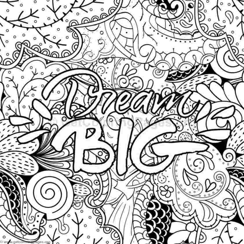 coloring pages with inspirational words inspirational word
