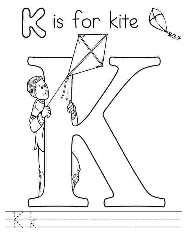 coloring sheets letter k free printable alphabet coloring