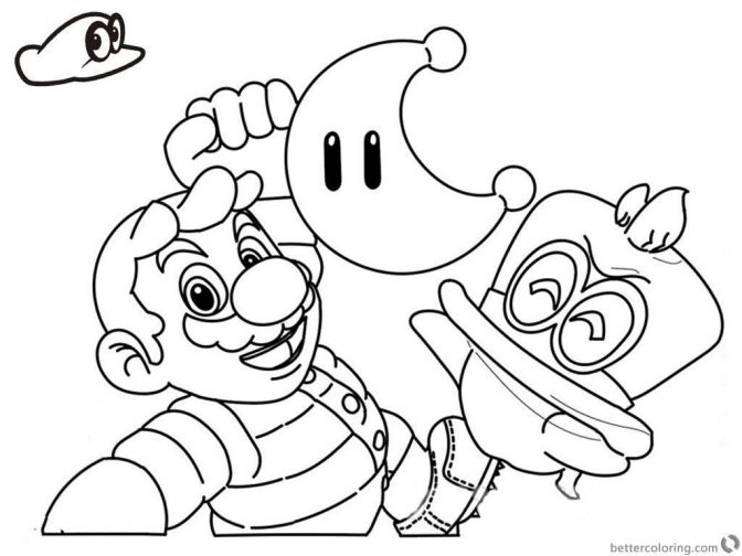 coloring super mario coloring pages beautiful odyssey of
