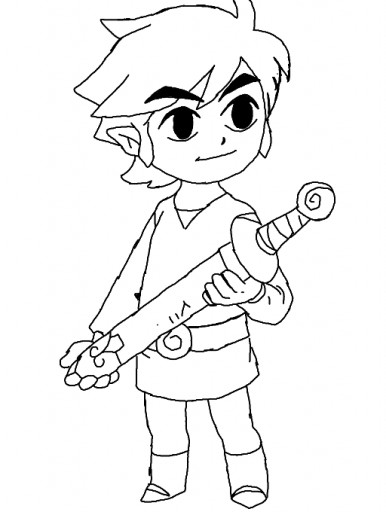 colors live toon link coloring page hylian green
