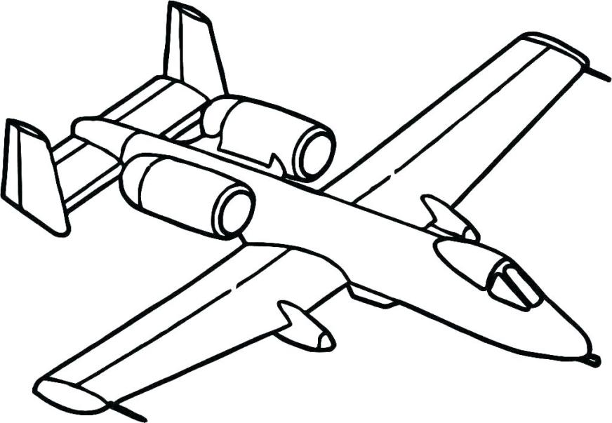 colouring pages airplane pusat hobi