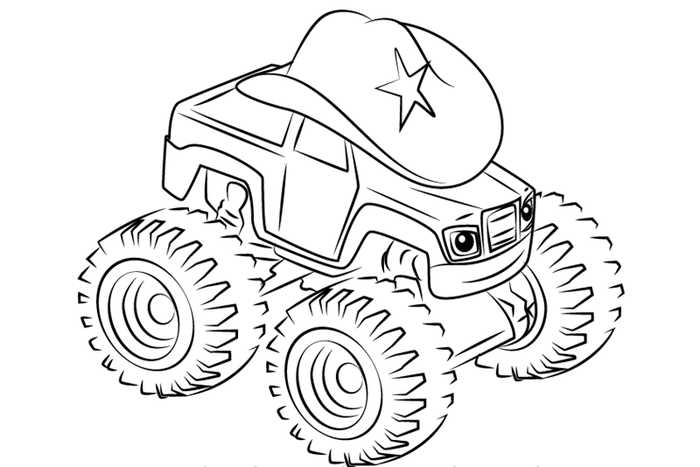 colouring pages blaze and the monster machines pusat hobi