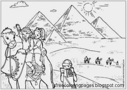 colouring pages egypt pusat hobi