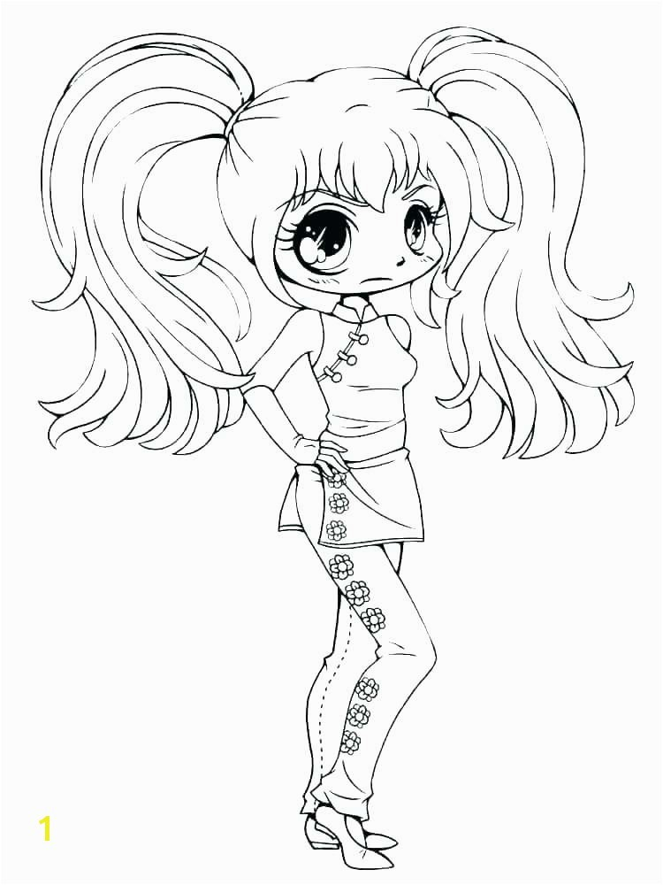 colouring pages for girls preschool cute anime chibi girl