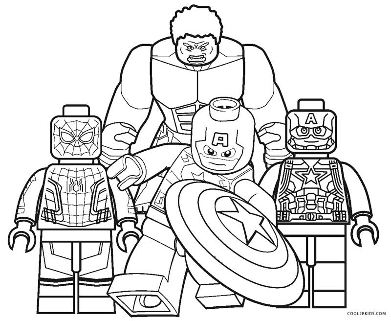 colouring pages lego pusat hobi