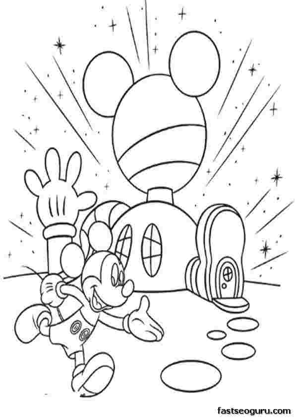 colouring pages mickey mouse clubhouse disney coloring pages