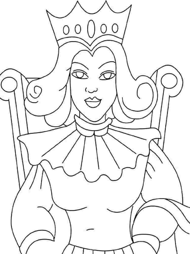 Queen Coloring Pages Pictures Whitesbelfast