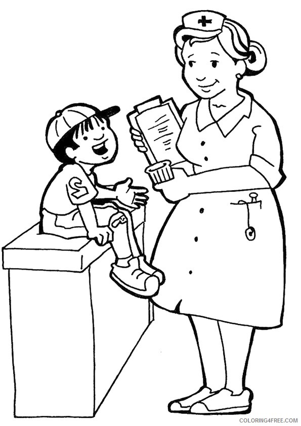 community helpers coloring pages nurse coloring4free