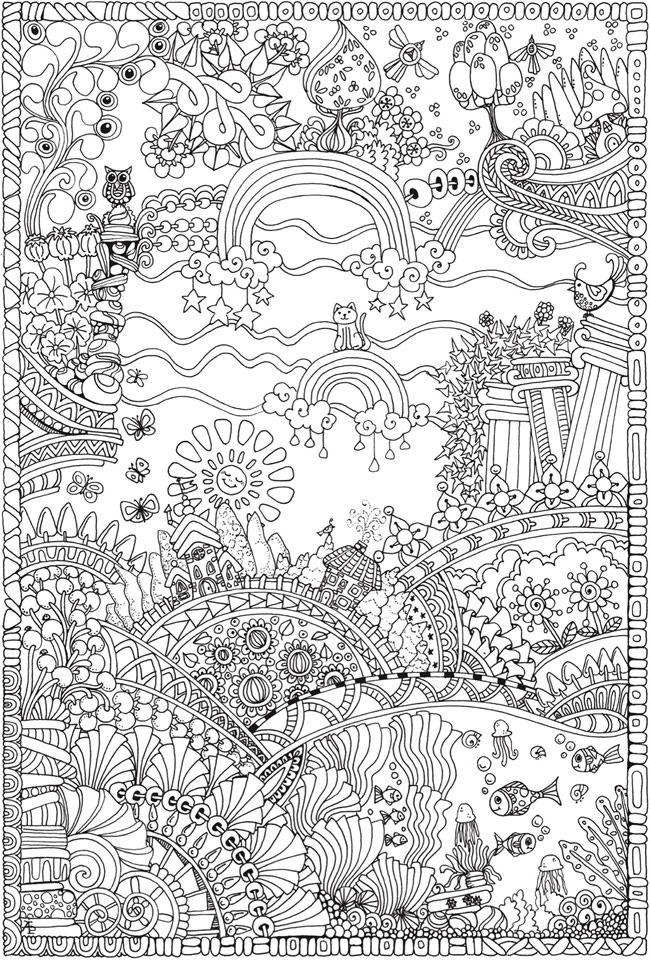 complex coloring pages coloring pages adult