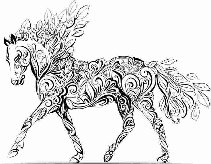 complicated horse coloring pages how adult colouring therapy