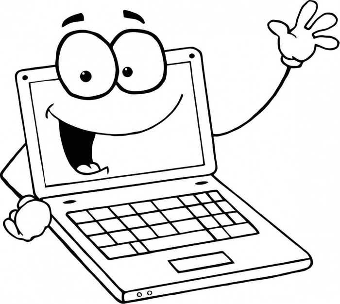 computer coloring pages printable computer sketch