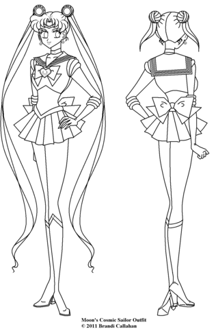 cosmic sailor moon coloring page free printable coloring pages