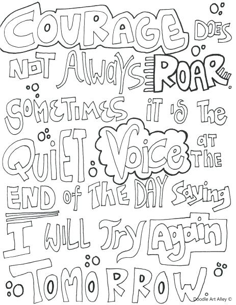courage coloring page at getdrawings free for personal